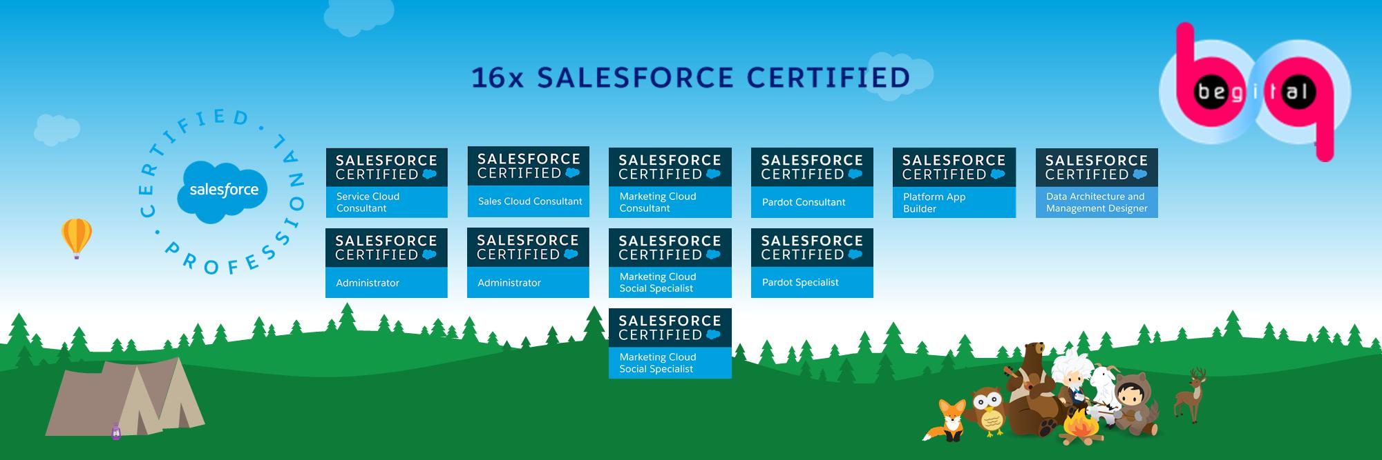 Begital Team Salesforce Certificates